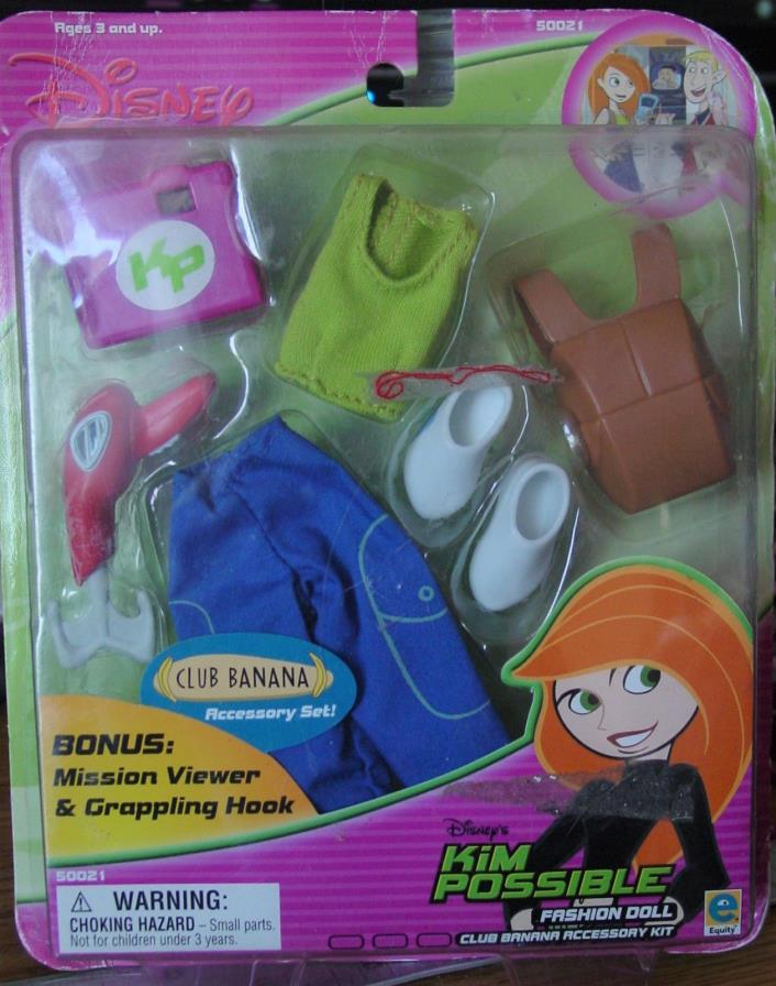 Disney Kim Possible Fashion Doll Accessory Kit