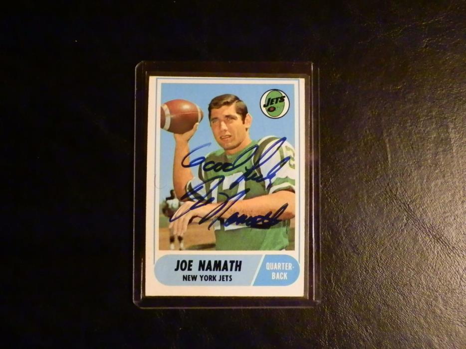 Joe Namath 1968 Topps AUTOGRAPH New York Jets Signed Card Auto Super Bowl III