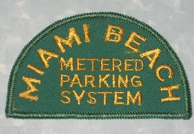 Miami Beach Metered Parking System Patch - vintage - 3 5/8