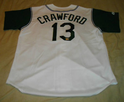 CARL CRAWFORD AUTOGRAPHED TAMPA BAY RAYS JERSEY