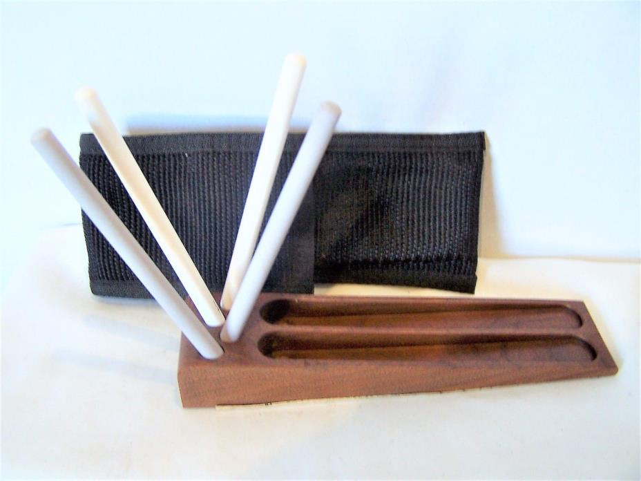 Two stage Crock Stick ceramic sharpening set wooden base and case instructions