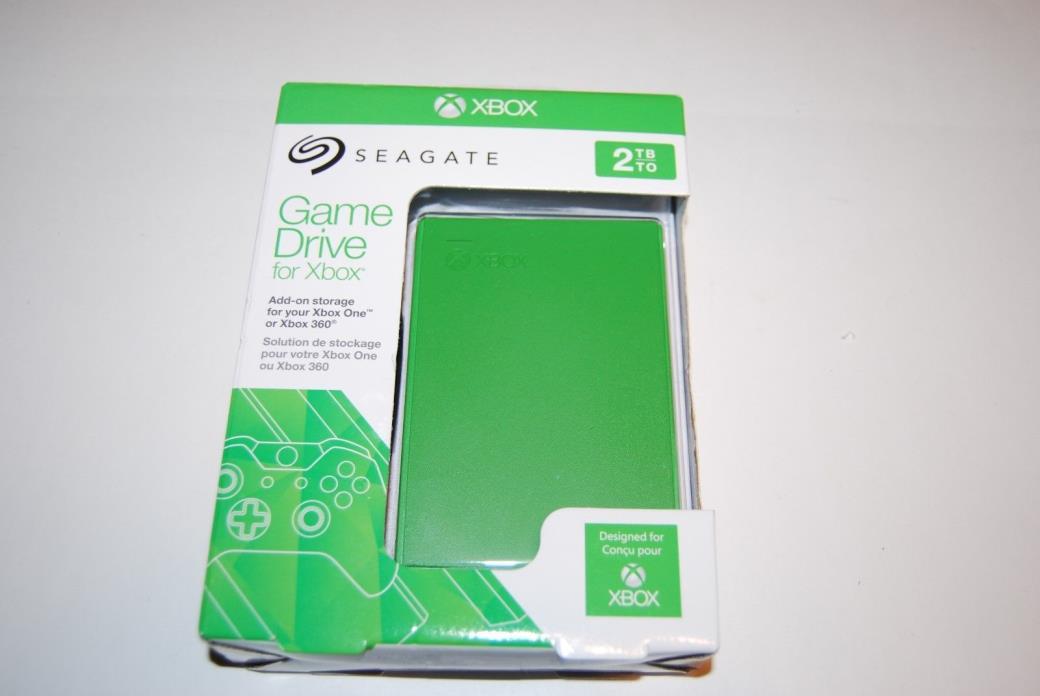Seagate 2TB Game Hard Drive for Xbox One & 360 Green STEA2000403