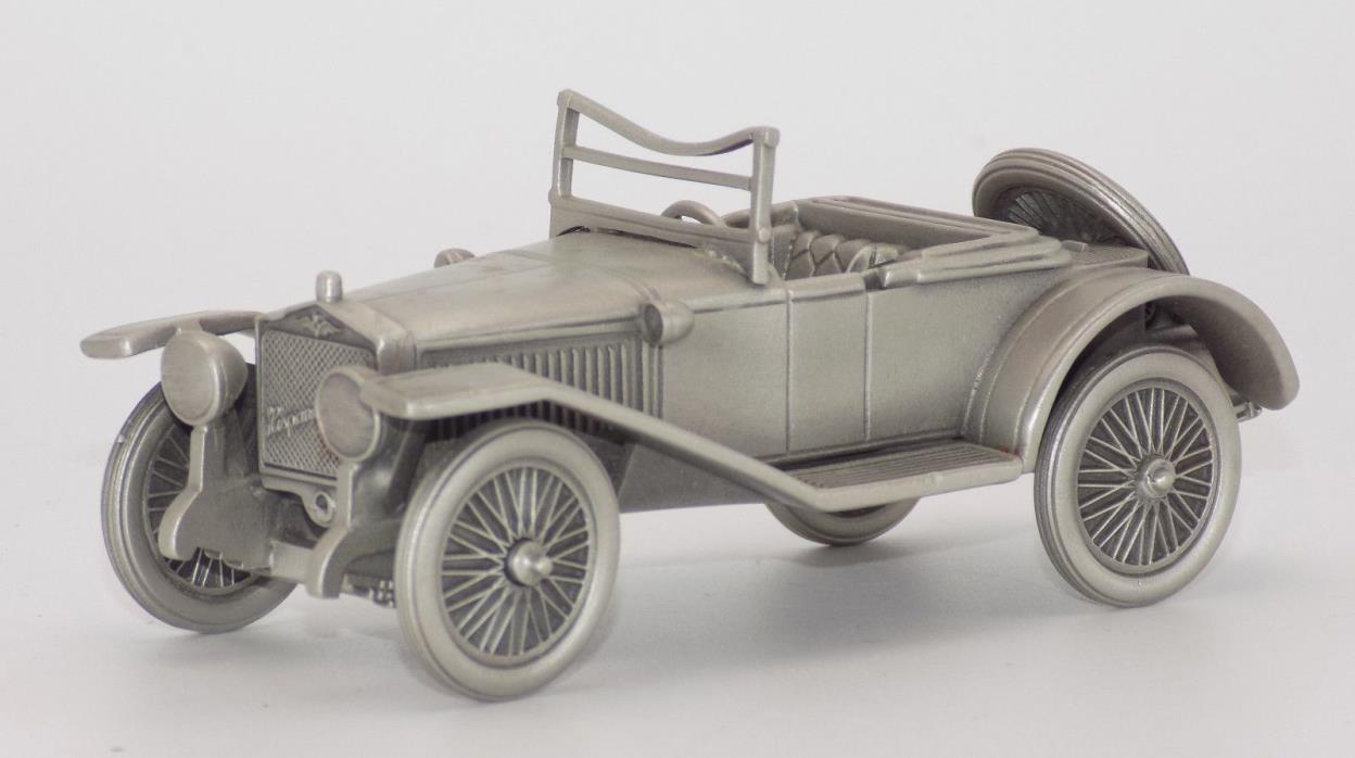 Danbury Mint Pewter 1912 Hispano-Suiza Automobile in Box