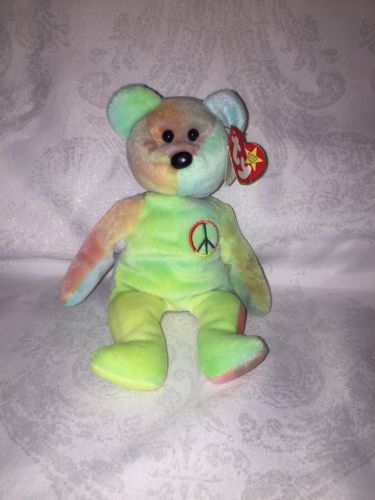 Ty Beanie Baby Peace  Rare With Errors