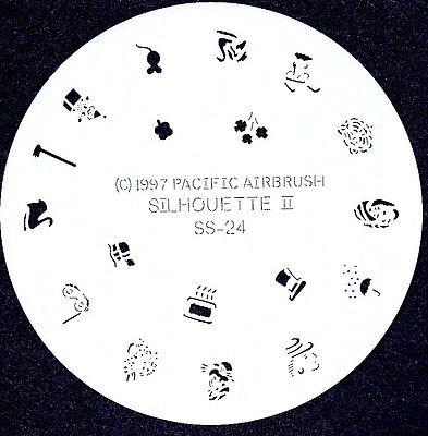 SILHOUETTE #24 FINGERNAIL AIRBRUSH STENCIL AIRBRUSHING NAIL ART