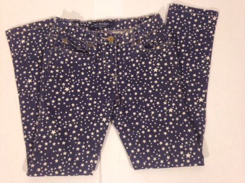 Mini Boden Girls Jeans Sz 10y Stars Blue Casual