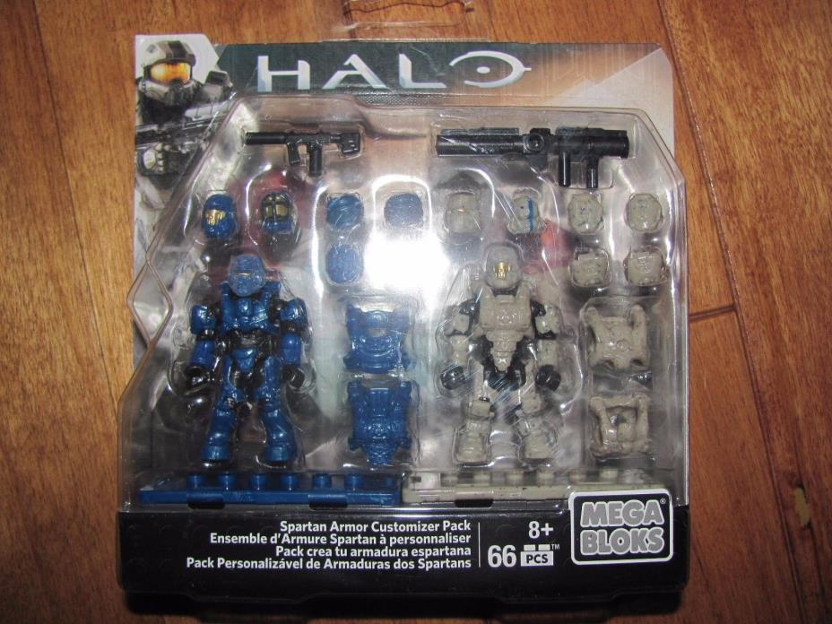 Mega Bloks Halo DLB92 SPARTAN ARMOR CUSTOMIZER PACK 66 pcs Sealed NEW