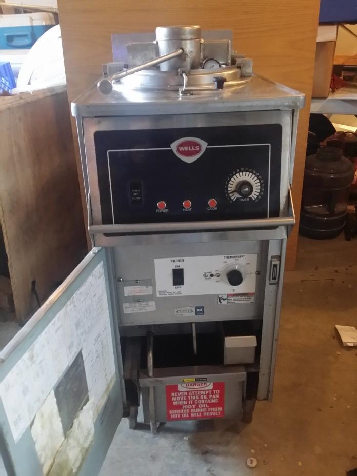 chicken broaster fryer with fryer oil recycler and filter
