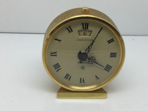 VINTAGE JAEGER LeCOULTRE RECITAL 8 DAY ALARM DESK CLOCK