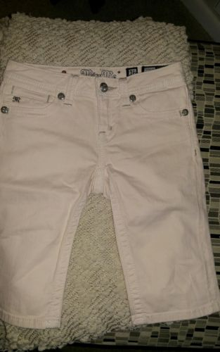Girls Pink Miss me bermuda shorts size16