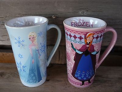 Disney Store Frozen Anna and Elsa Tall mug set Of 2 NEW first edition RARE