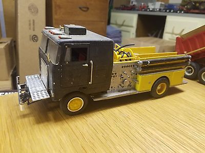 1/25 AMT Peterbilt COE Pumper truck built Project 5 Hole Budd Wheels 318 Detroit