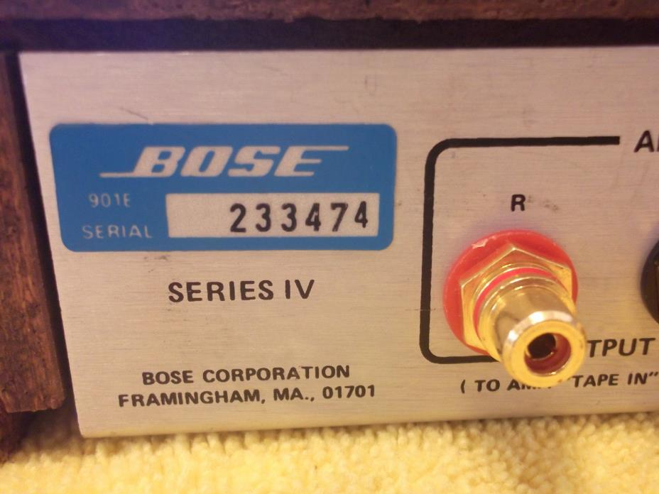 BOSE 901 SERIES IV ACTIVE EQUALIZER RESTORED  FREE SHIPPING