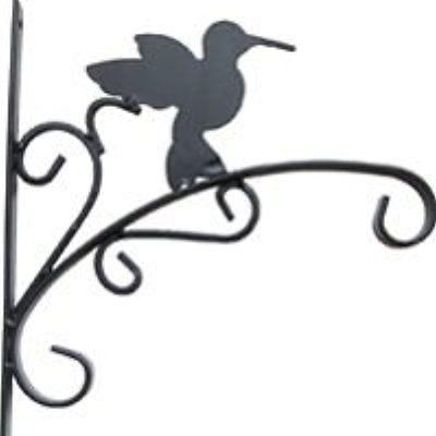Metal Bracket Bird Hanging Plant Hooks Mount Against Door Fence Deck Garage Lawn