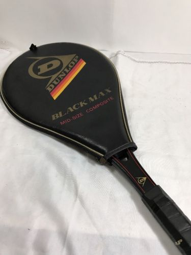 Dunlop Black Max Graphite Tennis Racquet Mid-Size Composite Original Grip & Case