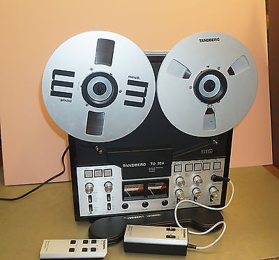 TANDBERG TD20A REEL TO REEL TAPE RECORDER 4 track 7 1/2 TO 3 3/4 ips with Remote