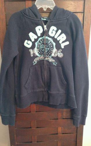 Gap Kids Girl's Navy Full Zip Hoodie size 8