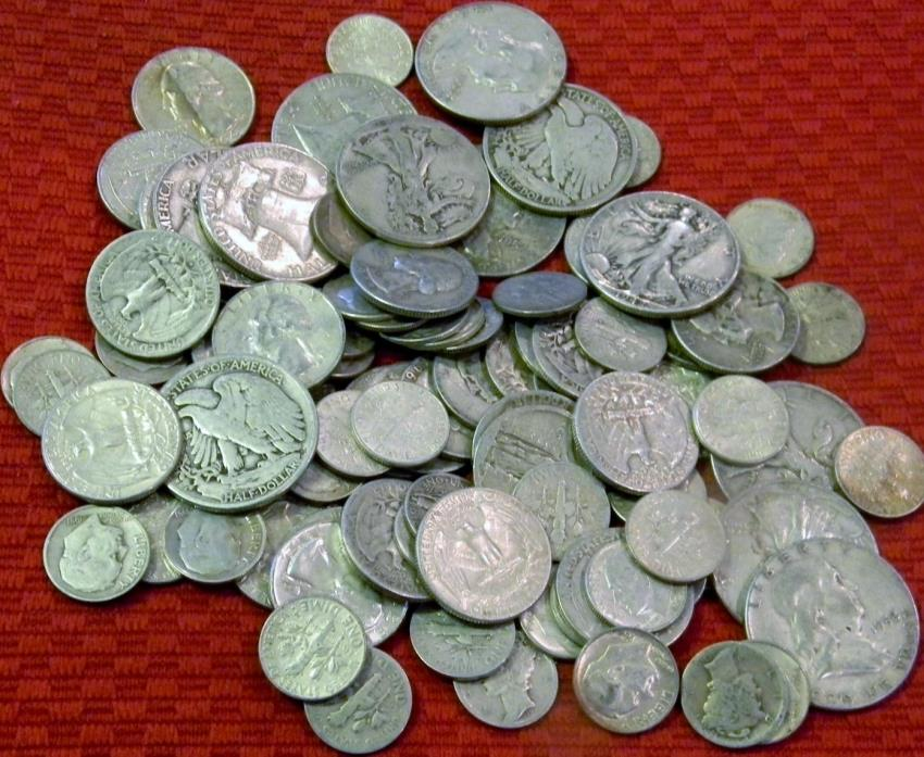 $1.00 Old SILVER COINS Half Dollars silver quarters silver dimes silver bullion