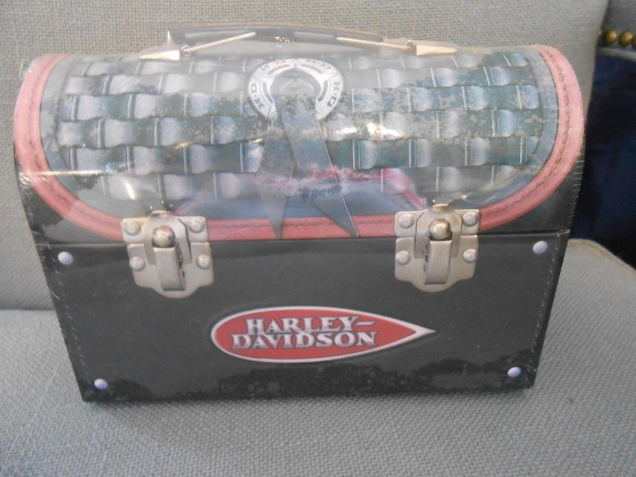 1999 Metal Harley-Davidson Lunch Box with Trail Mix