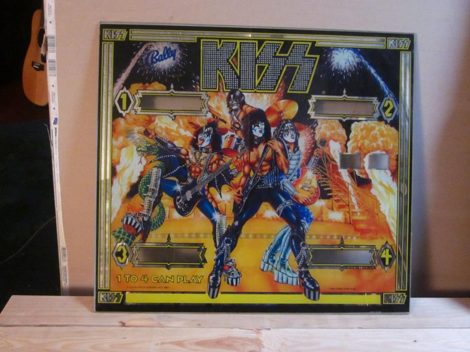KISS Pinball Machine Back Glass