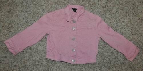 GUC-Girls RUE 21 Pink Button Up Long Sleeve Denim Jean Jacket-size S