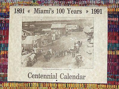 Miami OK 1991 Centennial Calendar, Old Photos