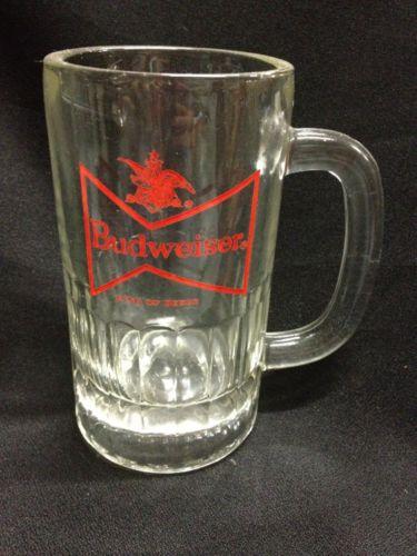 Budweiser glass mug Stein Vintage,