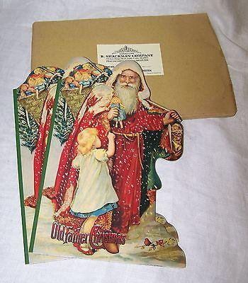 Lot 6 Old Father Christmas Soft Book E. Lecky w/ Emily Harding 1995 Shackman NOS
