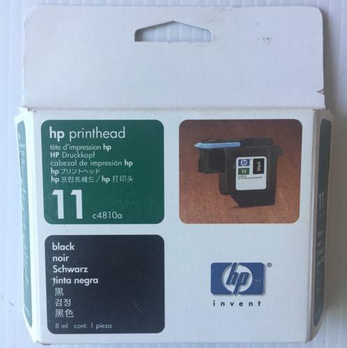 02/2004 Genuine HP 11 Black Ink Printhead C4810A Printer Print Head