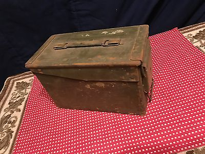 Vintage US Army USMC Military Metal Ammo Box SCF
