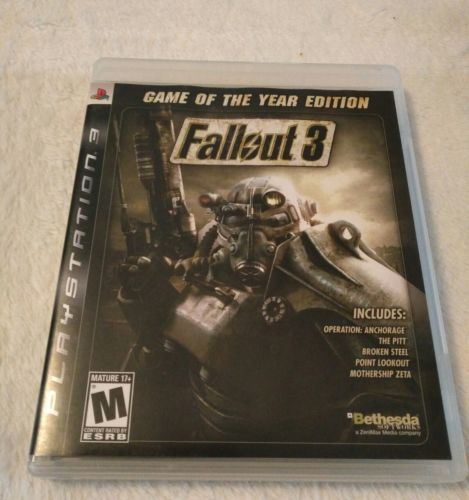 Fallout 3 Game Of The Year--Oblivion ps3 (Sony PS3 Video Game Lot)
