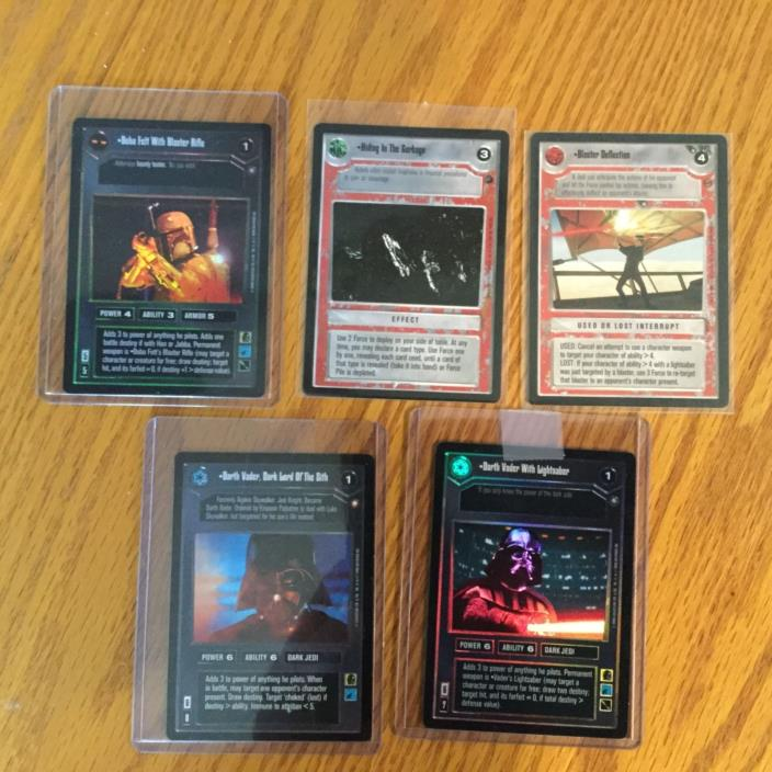 Star Wars CCG lot of cards...