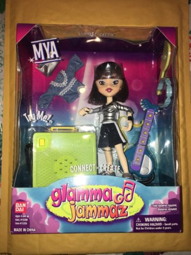 2003 Glamma Jammaz Mya Rock N Roll Doll Figure With Speaker Amp New Sealed Toy