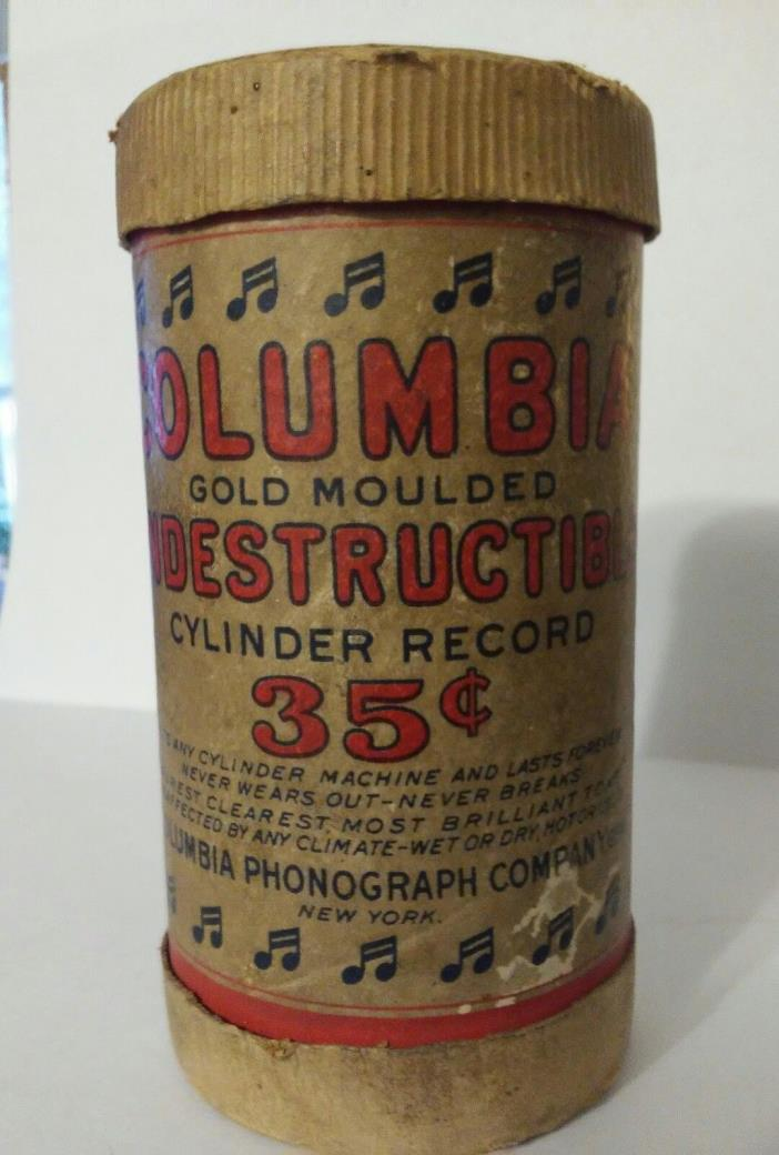 Edison Gold Moulded Records CARDBOARD STORAGE TUBE ONLY