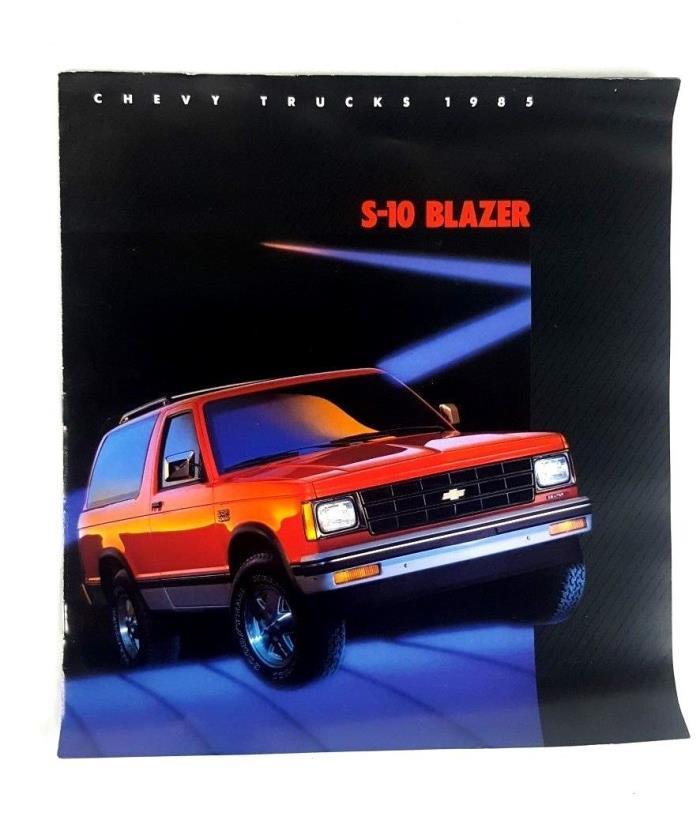 1985 Chevrolet Sales Brochure for S-10 Blazer