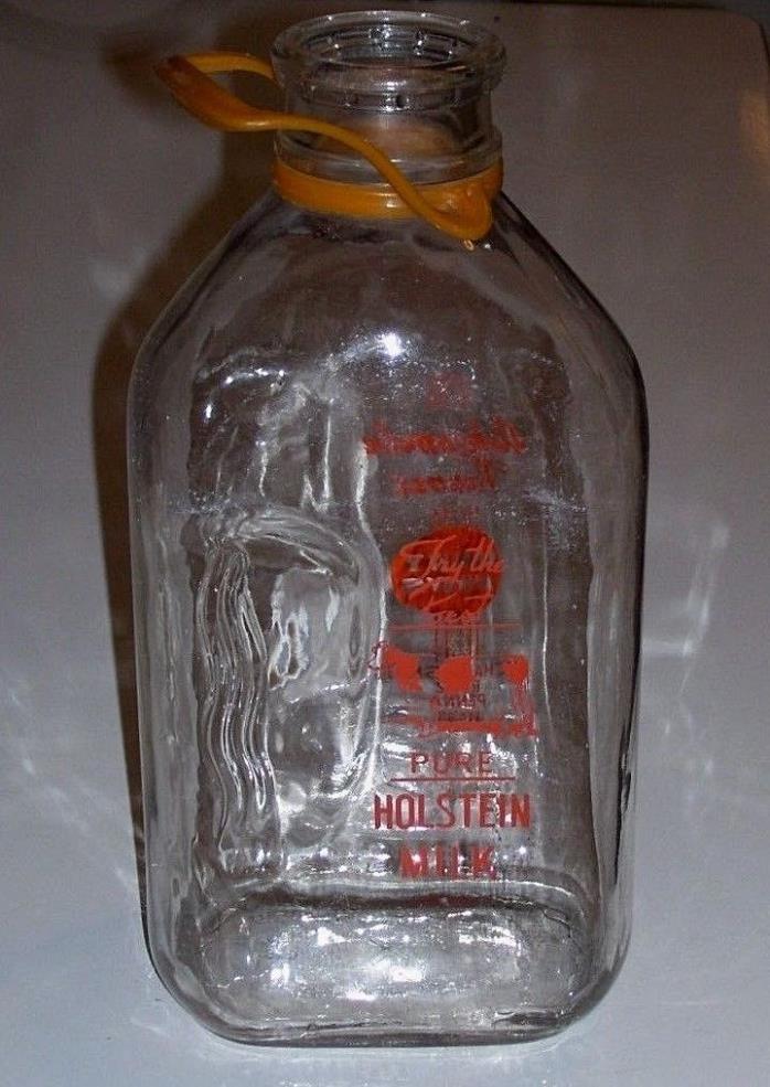 1/2 Gallon Milk Bottle Ashcombe Farm Mechanicsburg PA  SCARCE