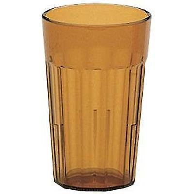 Plastic Tumbler Amber Cambro Newport 16 oz.Fluted Elegant BPA Free 60