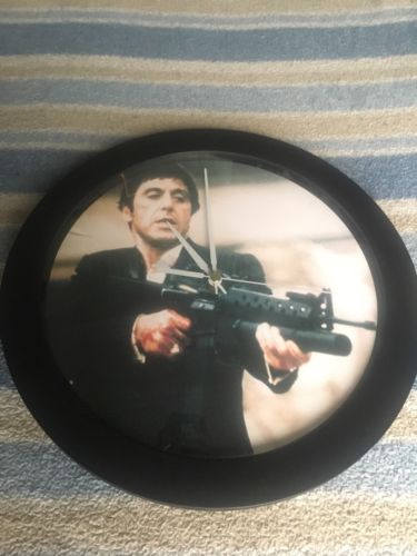 Scarface Quartz Wall Clock