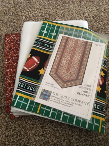 The Quilt Company Easy Stripped Football Table Runner Quilt Kit