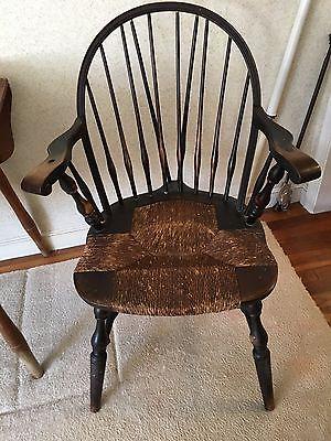 Nichols and Stone Rush Seat Chairs