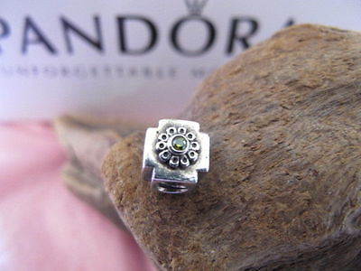 RARE GENUINE PANDORA CATHEDRAL ceiling CHARM 790286 GCZ green peridot RETIRED