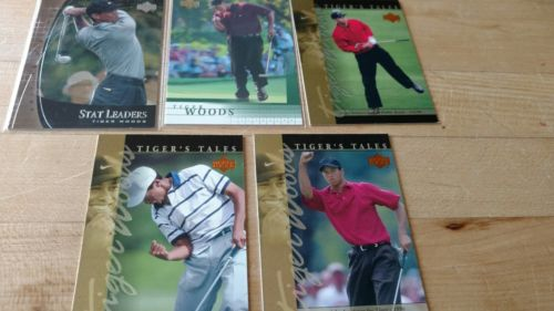 TIGER WOODS GOLF CARDS