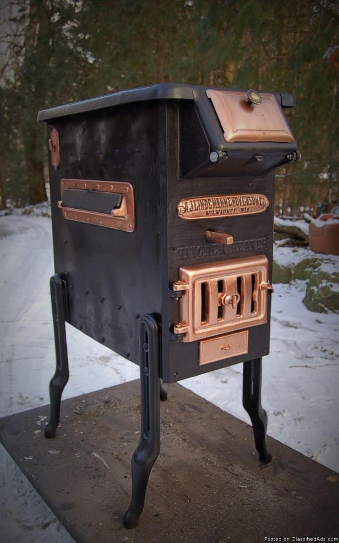 wood stove kitchen cook heater