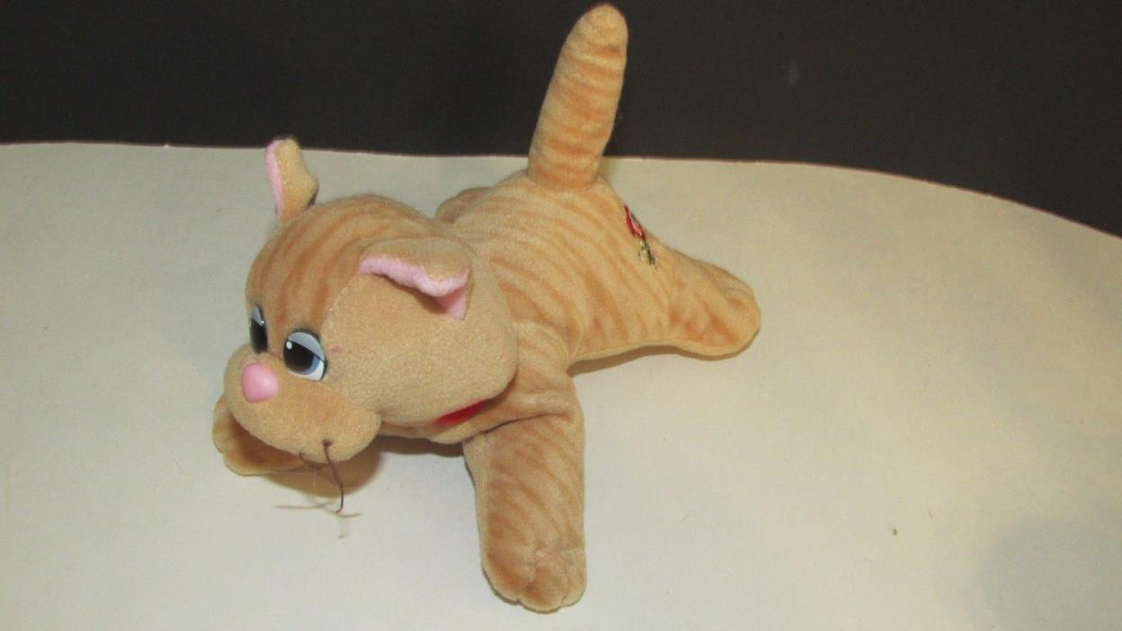 Vintage Pound Puppy Purries Plush striped  orange tabby cat kitten