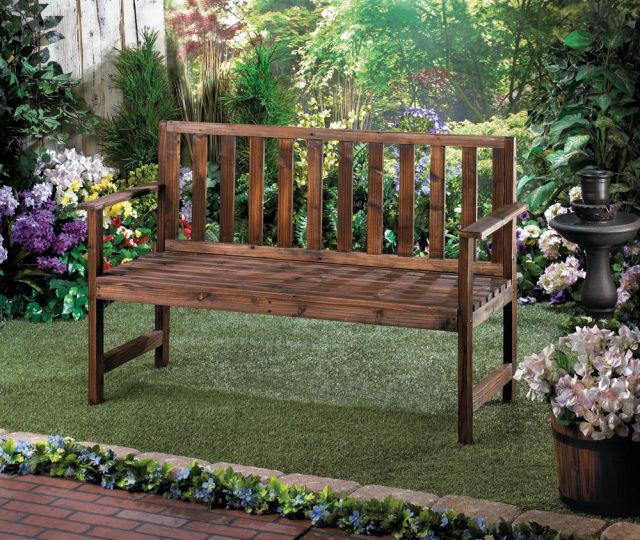 Elegant Wood Garden Patio Bench