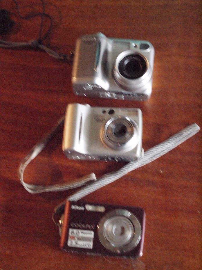 3 Untested Nikon Digital Cameras *** Please Read Carefully