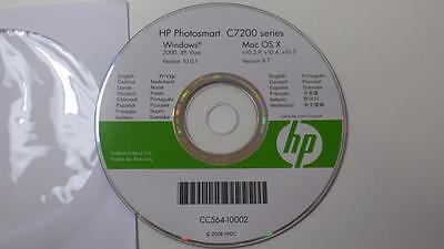 HP Photosmart C7200 Series Printer Software Disc Windows 2000,XP, Vista FREESHIP