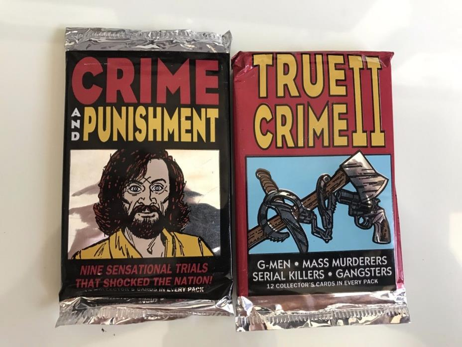 TRUE CRIME 2 AND CRIME AND PUNISHMENT UNOPENED CARD PACK