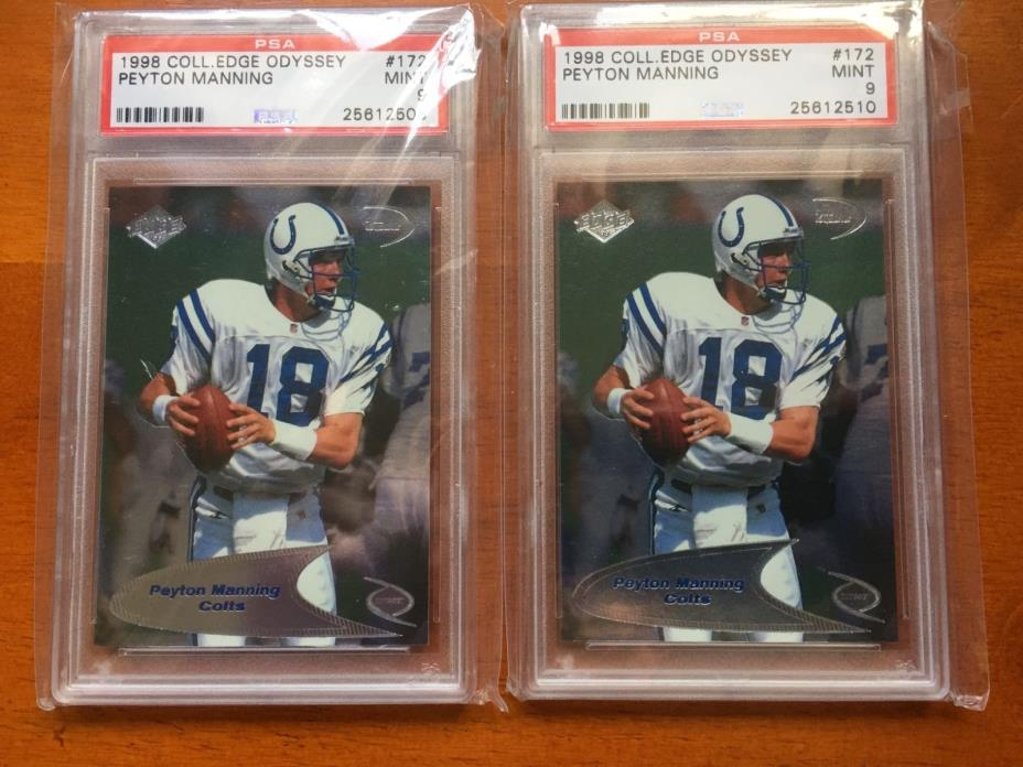 2 1998 98 Collectors Edge Odyssey Peyton Manning PSA 9