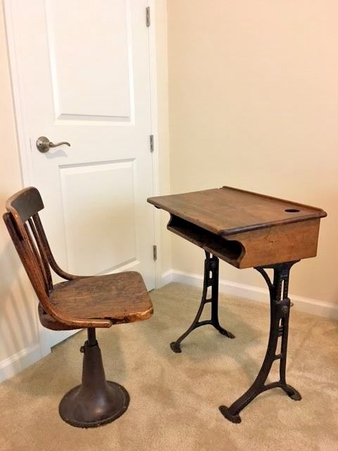 antique school desk and chair for sale classifieds. Black Bedroom Furniture Sets. Home Design Ideas